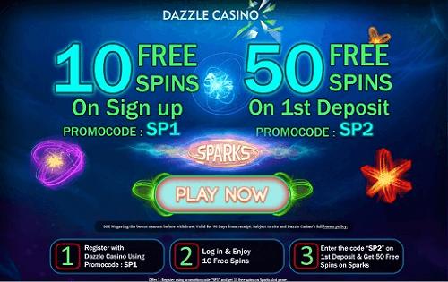 Dazzle Casino Bonuses