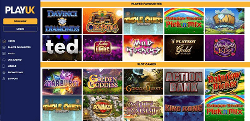 PlayUK Casino Games