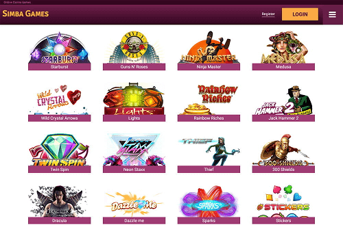 Best Simba Games Online Slots