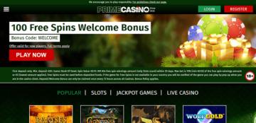Prime Casino Welcome Bonus