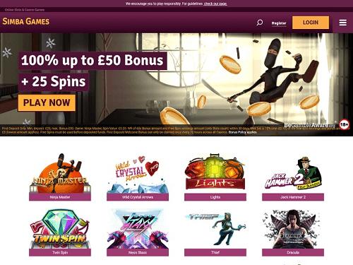 Simba Games Welcome Bonus
